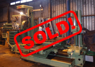 #04873 Horizontal Boring Machine TOS VARNSDORF W100A – ISO 50 – video available ▶️ – sold to Chile