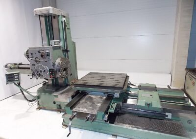 #05134 Horizontal Boring Machine TOS VARNSDORF W100A – ISO 50 – incl. tailstock and faceplate