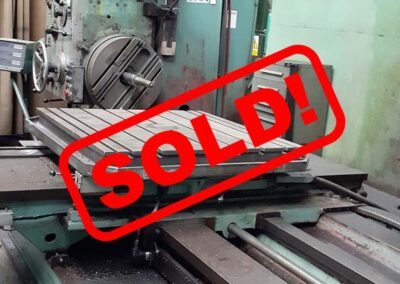 #05186 Horizontal Boring Machine TOS VARNSDORF W100A  – video available ▶️ – sold to India