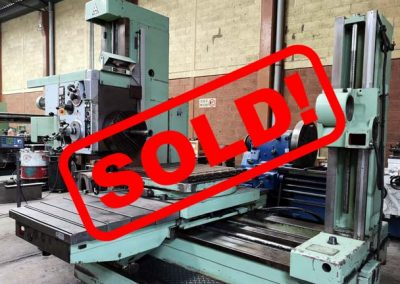 #05096 Horizontal Boring Machine TOS VARNSDORF W75 – incl. accessories and DRO – sold to Mexico