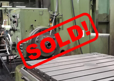 #05194 Horizontal Boring Machine TOS VARNSDORF H100A – ISO 50 – 1999 – sold to Czech Republic