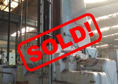 #05223 Horizontal boring machine SKODA W200G/6000 CNC – incl. rotary table E20 enlarged 2 x 2,5 m + milling head – video available ▶️ – sold to Italy
