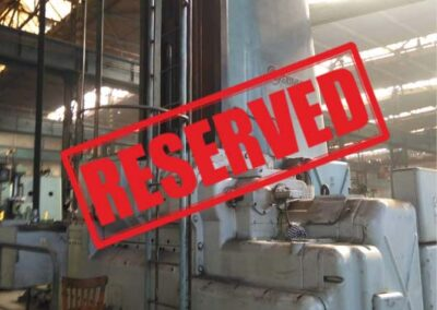 #05223 Horizontal boring machine SKODA W200G/6000 CNC – incl. rotary table E20 enlarged 2 x 2,5 m + milling head – video available ▶️ – Reserved for Italy