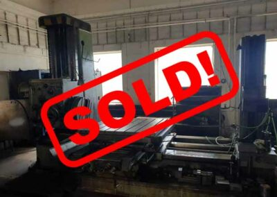 #05387 Horizontal Boring Machine TOS VARNSDORF W100A – ISO 50 – incl. tailstock and faceplate – Sold to India