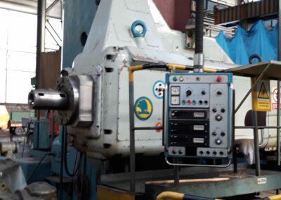 #05407 Horizontal boring machine SKODA W200D/4000 – incl. rotary table E20, plates 187 x 6400 mm + milling head