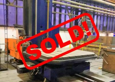 #05477 Horizontal Boring Machine TOS Wd130A – ISO 50 – incl. table E20, 2 pcs of plates, 3 pcs of milling heads, digital readout for 3 axes – sold to India
