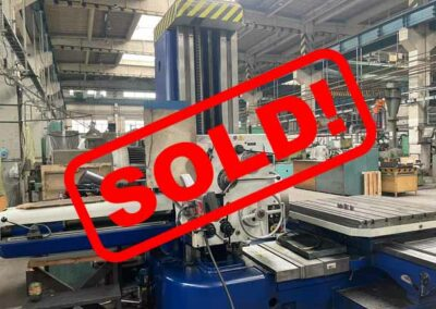 #05544 Horizontal Boring Machine TOS VARNSDORF W100A – ISO 50 – incl. tailstock and faceplate – sold in Czech Republic