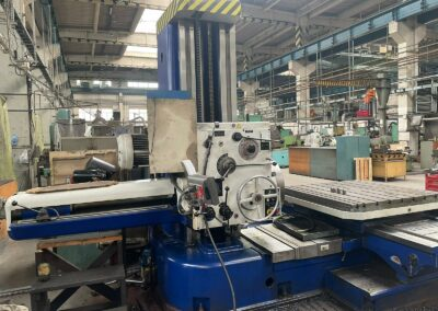 #05544 Horizontal Boring Machine TOS VARNSDORF W100A – ISO 50 – incl. tailstock and faceplate